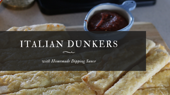Italian Dunkers with Homemade Dipping Sauce