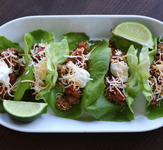 Turkey & Quinoa Tacos in a Lettuce Shell