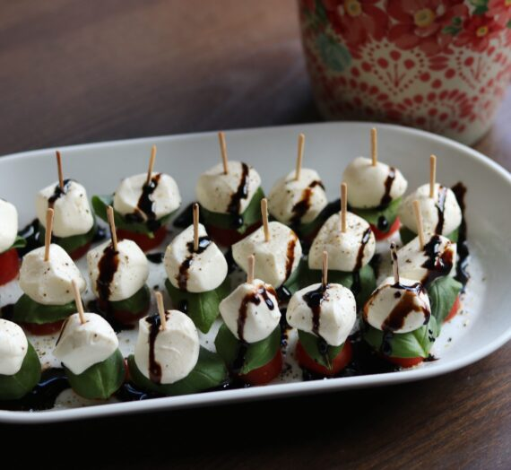 Easy Caprese Bites with A Balsamic Drizzle
