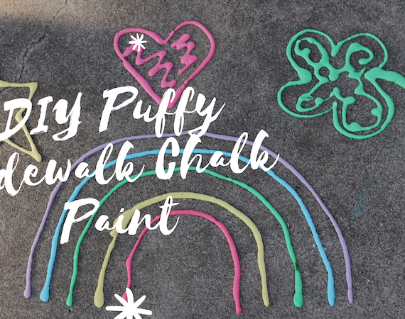DIY Puffy Sidewalk Chalk Paint