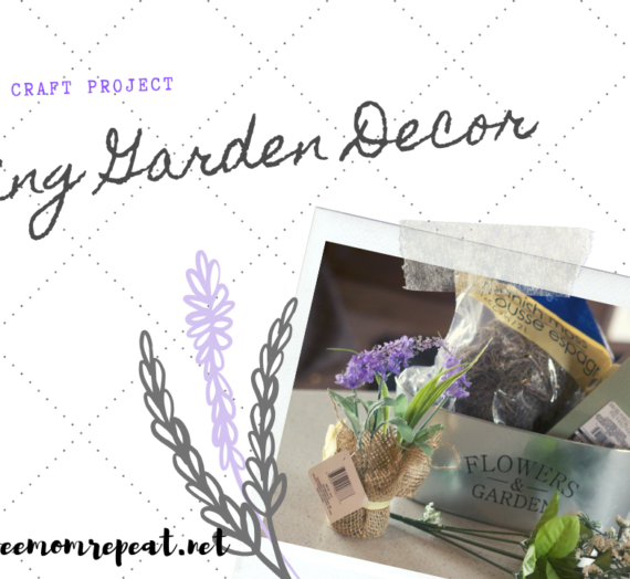 Dollar Tree Craft: Spring Garden Decoration. Only $5 to Make!