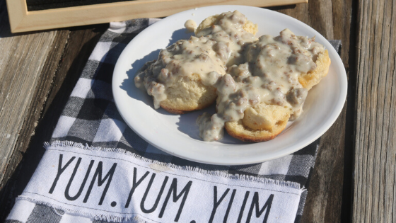 Southern Style Biscuits & Gravy — A Breakfast Favorite!