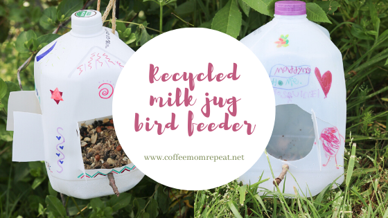 Recycled Milk Jug Bird Feeders — Fun For Kids!